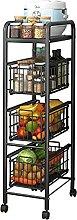 LKH Kitchen Storage Shelf, 4 Tier Metal Storage
