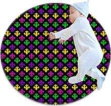 LKJDF Super soft cotton children's rug round