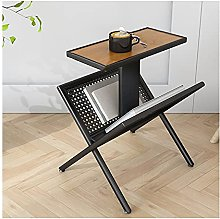 LKJHG Sofa Side Table,Rattan Corner Table,2-Tier