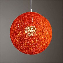 LKJYBG Hand-woven rattan lampshades, round concise