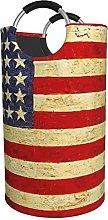 LKTBJEMFY American Flag Laundry Basket, Large