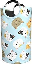 LKTBJEMFY Cute Cats Laundry Basket, Large Foldable