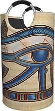 LKTBJEMFY Egyptian Horus Eye Laundry Basket, Large