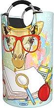 LKTBJEMFY Hipster Giraffe Animal Glasses Laundry