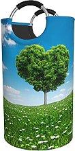 LKTBJEMFY Spring Heart Laundry Basket, Large