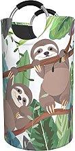 LKTBJEMFY Tropical Sloth Laundry Basket, Large