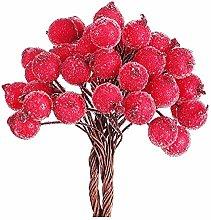 LKXHarleya Artificial Frosted Berries Christmas