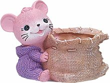 LKXZYX Resin succulent flowerpot animal purple rat