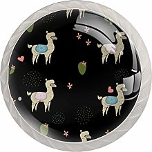Llama Cactus Pattern Drawer Knobs Pulls Cabinet