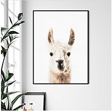 Llama Wall Art Nursery Print and Poster, Farm