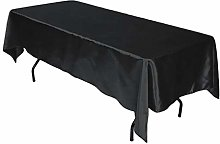 LLEH Rectangle Tablecloth, Satin Tablecloth for