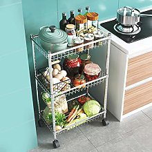 LLF Kitchen Storage Trolley, 3/4 Tier Stainless