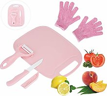 LLGLEU 4 Pieces Kids Cooking Supplies Knife Set