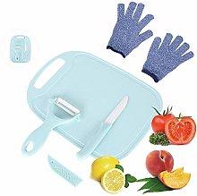 LLGLEU 4 Pieces Kids Cooking Supplies Knife Set