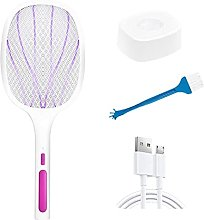 LLKK 2 in 1 LED Electric Mosquito Swatter 1200mAh