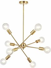 LLLKKK Chandeliers,8-Lights Modern Sputnik