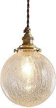 LLLKKK Nordic Art Glass Pendant Light Vintage