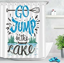 llllll Fabric Waterproof Lake Boat Shower Curtain