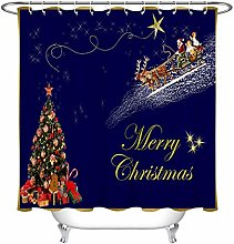 llllll Merry Christmas Fabric Shower Curtain Liner