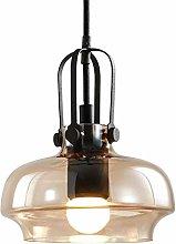 LLLQQQ Farmhouse Glass Pendant Light Fixture Black