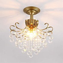 LLLQQQ Modern Crystal Close To Ceiling Lamp
