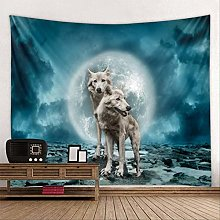 LLMM Tapestry Wolf Tapestry Decoration Wall