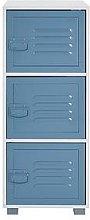 Lloyd Pascal Edison Metal Locker 3 Drawer Cabinet