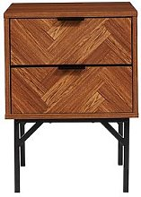 Lloyd Pascal Peterson 2 Drawer Bedside Cabinet