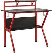 Lloyd Pascal Rogue Compact Gaming Desk - Black/Red