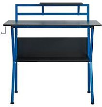Lloyd Pascal Rogue Compact Gaming Desk - Blue/Black