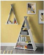 Lloyd Pascal Teepee Wall Mounted Single Tier Kids Shelf