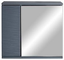 Lloyd Pascal Wave Mirrored Bathroom Wall Cabinet -
