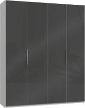 Lloyd Tall Wardrobe In Gloss Grey And White 4 Doors
