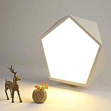 LLT Modern Simple White Hexagonal Creative Ceiling