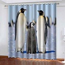 LLWERSJ Eyelet Blackout Curtains Animal penguin