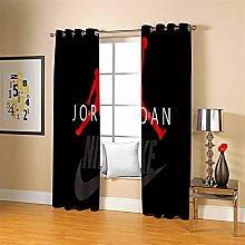 LLWERSJ Eyelet Blackout Curtains Basketball Jordan