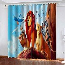 LLWERSJ Eyelet Blackout Curtains The lion king