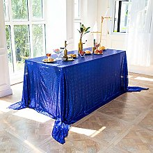 LMDY home decoration tableclothBlue Sequins