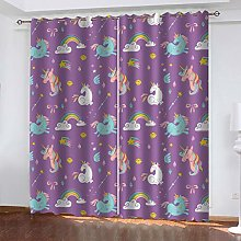 LMHWW Blackout Curtain Very Soft Solid Thermal