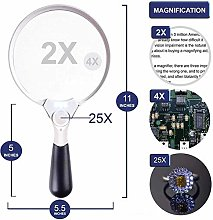 LMK Magnifier,Led Handheld Magnifier with Light