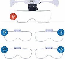 LMK Magnifier,Magnifying Lens Band with Led Light,