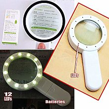 LMK Magnifying Glass Hd Magnifying Glass with 12