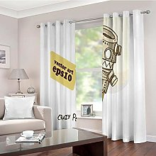 LMMLYR 100% Blackout Curtain Set with Eyelet, Ring
