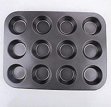 LMQ 12-cup Muffin Pan, Non-stick Muffin Cupcake