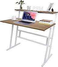Lnarniaw Ladder Desk for Small Space, Metal Frame,