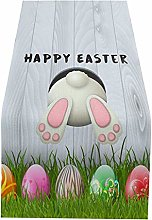 LNIBA Table Runners Easter Decoration, Bunny Table