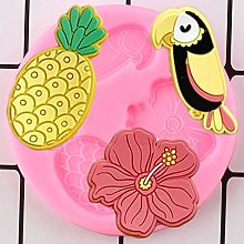 LNOFG Silicone Mold Hibiscus Toucan Pineapple