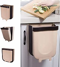 lnSo Kitchen Hanging Trash Can, Collapsible Trash