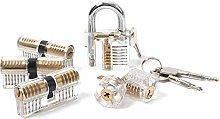 Loboo Idea 6 Pieces Practice Lock Set,6 Pack