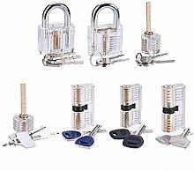 Loboo Idea 7-Piece Practice Lock Set for Beginner